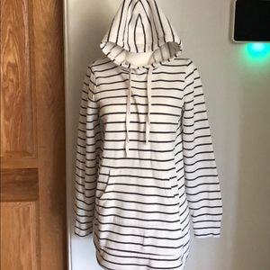 Motherhood Maternity grey/white striped hoodie